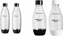 SodaStream Twinpack Fuse Carbonating Bottles 1 l