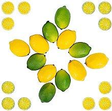 SODIAL 24 Pieces Vivid Pale Lemons Limes and