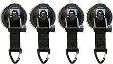 SODIAL 4Pcs Suction Cup Anchor Securing Hook Tie