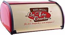 SODIAL French Vintage Bread Box Storage Bin Rollup