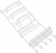 SODIAL Fridge Hanging Rack Shelf Side Storage