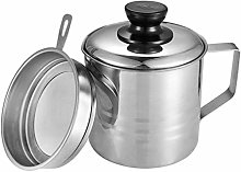 SODIAL Oil Strainer Pot/Grease Can, 1.5 Quart