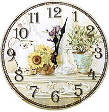 SODIAL(R) Vintage Antique Style 34cm Wall Clock