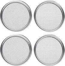 SODIAL Stainless Steel Sprouting Lids for Wide