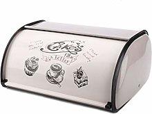 SODIAL Vintage Bread Box Storage Bin Rollup Top