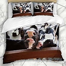 Soefipok Duvet Cover Sets View Brown Cow Hungry