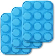 Soekavia - 12-Cup Silicone Muffin Pan, 3-Pack