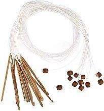 Soekavia - 12pcs Circular Bamboo Needles, Natural