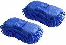 SOEKAVIA 2x Chenille Microfiber Car Cleaning
