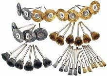 SOEKAVIA 36Pcs Wire Brush, Steel Brass Polishing