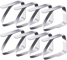 SOEKAVIA 8 stainless steel tablecloth clips,