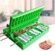 Soekavia - Barbecue Carry Rope Skewer Kebab Maker Quick and Multifunction Vegetables, Meat Skin BBQ Tools Kitchen Accessories