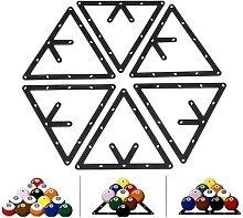 SOEKAVIA Billiard Stand, 6pcs / set Triangle Rack