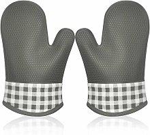 SOEKAVIA Heat Resistant Silicone Oven Glove, Oven