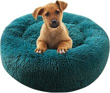 SOEKAVIA Round Plush Cat Basket for Pet Cats and