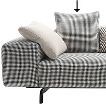 Sofa accessory - / 48 x 48 cm by Kartell Black