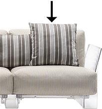 Sofa accessory - / 48 x 48 cm by Kartell Grey