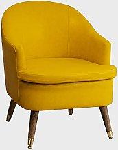 Sofa armchair reading chair, solid wood leg