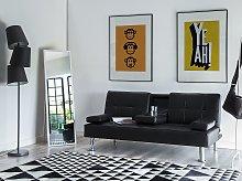 Sofa Bed Black 3 Seater Drop Down Table Click Clack