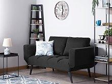 Sofa Bed Black Loveseat Adjustable Armrests