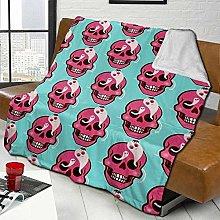 Sofa Bed Blankets Throw Halloween Cute Skull With