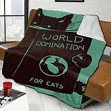 Sofa Bed Blankets Throw World Domination For Cats