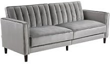 Sofa Bed Convertible Flannel Upholstery Adjustable
