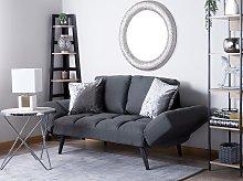 Sofa Bed Dark Grey Loveseat Adjustable Armrests