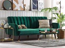 Sofa Bed Green Sleeper Convertible Velvet