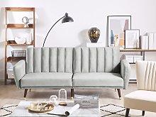 Sofa Bed Light Grey Sleeper Convertible Velvet