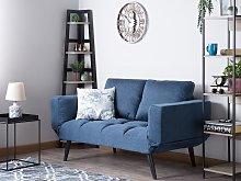 Sofa Bed Navy Blue Loveseat Adjustable Armrests