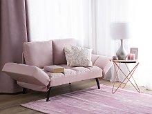 Sofa Bed Pink Loveseat Adjustable Armrests