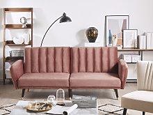 Sofa Bed Pink Sleeper Convertible Velvet