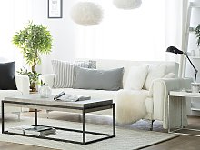 Sofa Bed White Faux Leather Tufted Modern Living