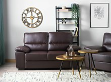 Sofa Brown 2 Seater Faux Leather Living Room