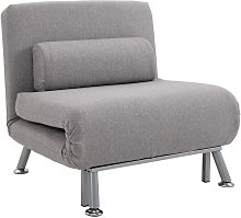 Sofa Chair Bed w/ Metal Frame Padding Pillow Home