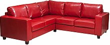 Sofa Collection Lucena Red L-Shaped Corner Sofa in
