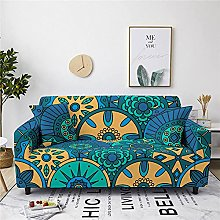 Sofa Cover 1 Seater Blue Bohemia Couch Cover