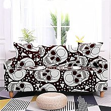 Sofa Cover 1 Seater Coffee Skull Couch Cover