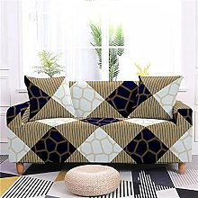 Sofa Cover 1 Seater Geometry Couch Cover Polyester