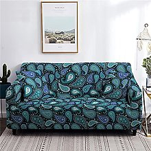 Sofa Cover 1 Seater Navy Blue Raindrops Couch