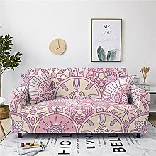 Sofa Cover 1 Seater Pink Bohemian Couch Cover