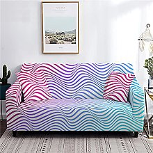 Sofa Cover 1 Seater Wave Couch Cover Polyester
