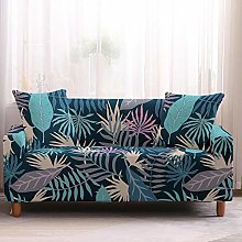 Sofa Cover Stretch l Shape Tropical Leaves