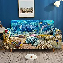 Sofa Covers 2 Seater Underwater World Print Couch
