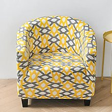 Sofa Covers 2 Seaters Yellow Gray Plaid Couch