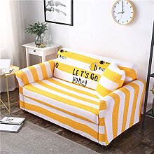 sofa covers 3 seater White yellow stripe polyester