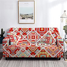 sofa covers 3 seaters Red Print Couch Cover
