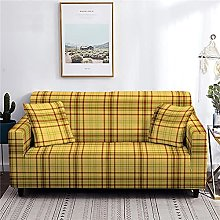 sofa covers 3 seaters Yellow Grid Couch Cover