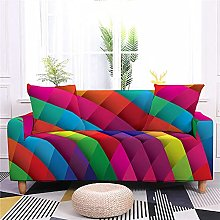 Sofa Covers 4 Seater Color Geometry Couch Cover
